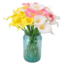Fleur artificielle de Zantedeschia 20 pièces ménage salon Table décoration Simulation fleur multicolore