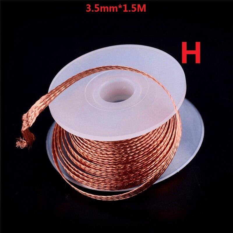 Много вариантов демонтажа оплетка для удаления припоя Пайка эмалированная катушка рулон проволоки фитиль инструмент для ремонта провода 0,1-3,5 мм 1,5/10/11/100 м
