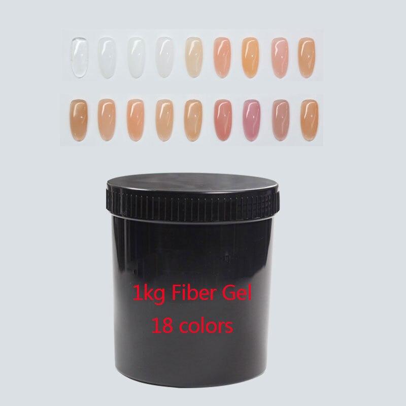 Gel constructor de fibra de Gel MSHARE 1kg para extensión de uñas con fibra de vidrio