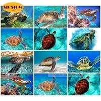full drill square 5d diamond painting seascape sea turtle diamond embroidery icons cross stitch rhinestone mosaic paintings gift