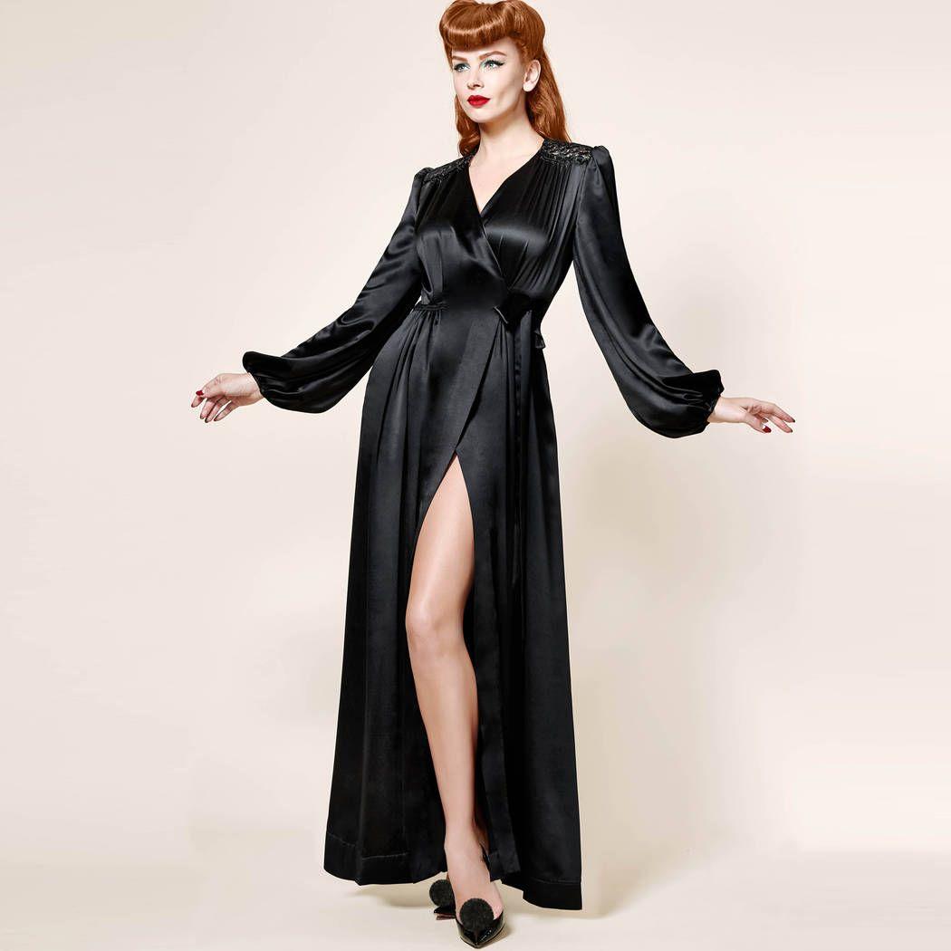 شحن مجاني الخاص الجلالة ، ديتا ، الرجعية الفاخرة ، سوبر طويل المخملية ، الحرير البشكير ، ثوب النوم رداء الداليا XS-XL