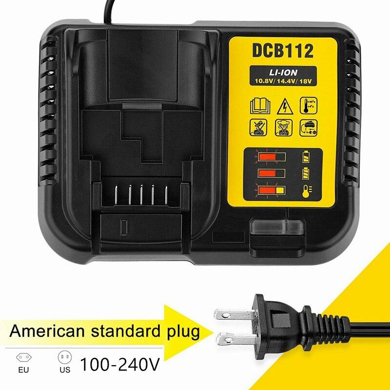 DCB206 DCB205 أو DCB112 بطارية ليثيوم أيون شاحن ل ديوالت 10.8V 12V 14.4V 18V Dcb101 Dcb200 Dcb140 Dcb105 Dcb200 2021 100% جديد