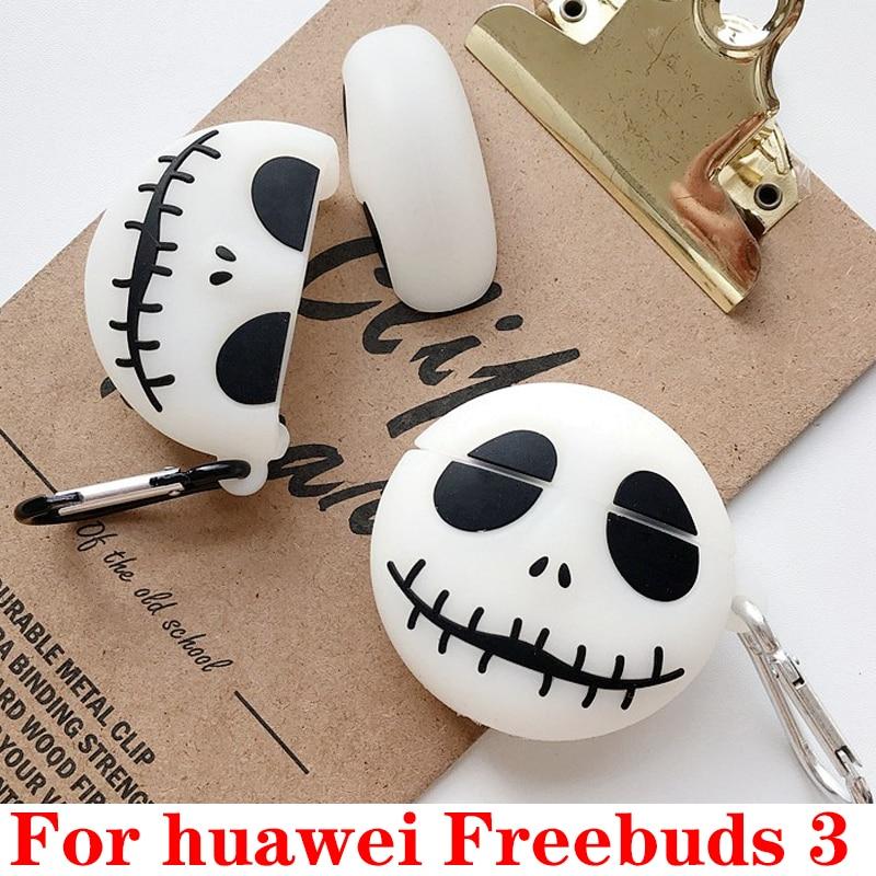 Para huawei Freebuds 3 funda luminosa divertida de dibujos animados para auriculares funda para huawei Freebuds3 funda protectora de silicona coque