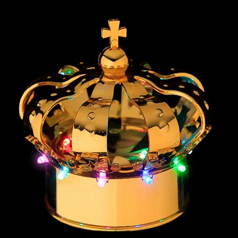 D100mm * H105mm discothèque champagne bouteille lumière LED couronne bouteille bouchons or couleur barre meubles échantillon Promotion 4 pcs/lot