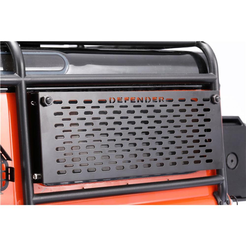 Opable oco para fora mesa de ferramentas para 110 dj traxxas trx4 defender d90 d110 rc rastreador peças do carro janela traseira malha guarda