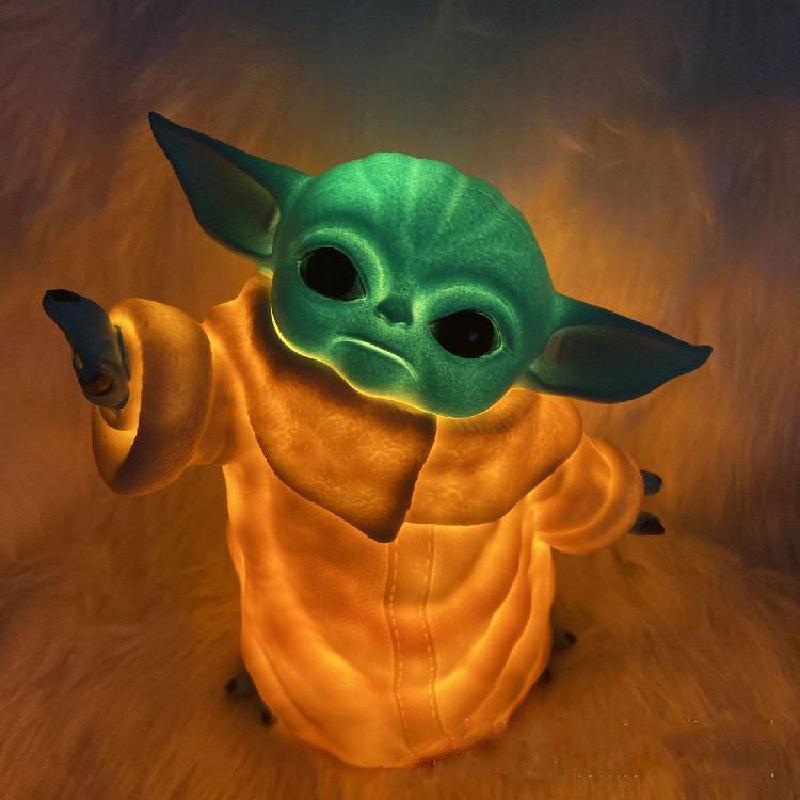 5pcs/set Yoda Grogu Baby Action luminescence Figure Toys 5-15cm Yoda Baby Action Toys Star Wars Figuras Hot Kids Toys Xmas Gifts