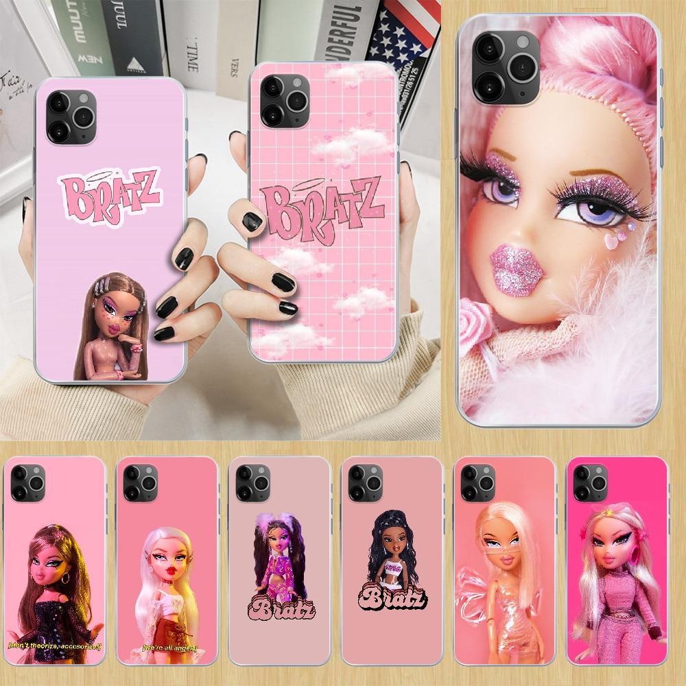 Bratz bonito dos desenhos animados boneca menina telefone capa para o iphone 5 5S 6s plus 7 8 12 mini x xr xs 11 pro se 2020 max transparente