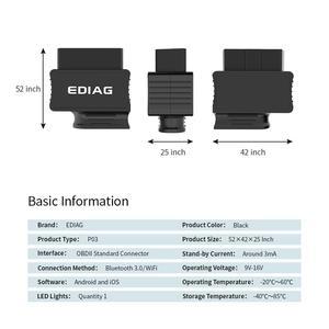 Image 3 - EDIAG P03 ELM327 Bluetooth WIFI V1.5 PIC18f25k80 чип диагностический сканер elm 327 V1.5 для OBDII OBD2 транспортного средства android IOS Torque