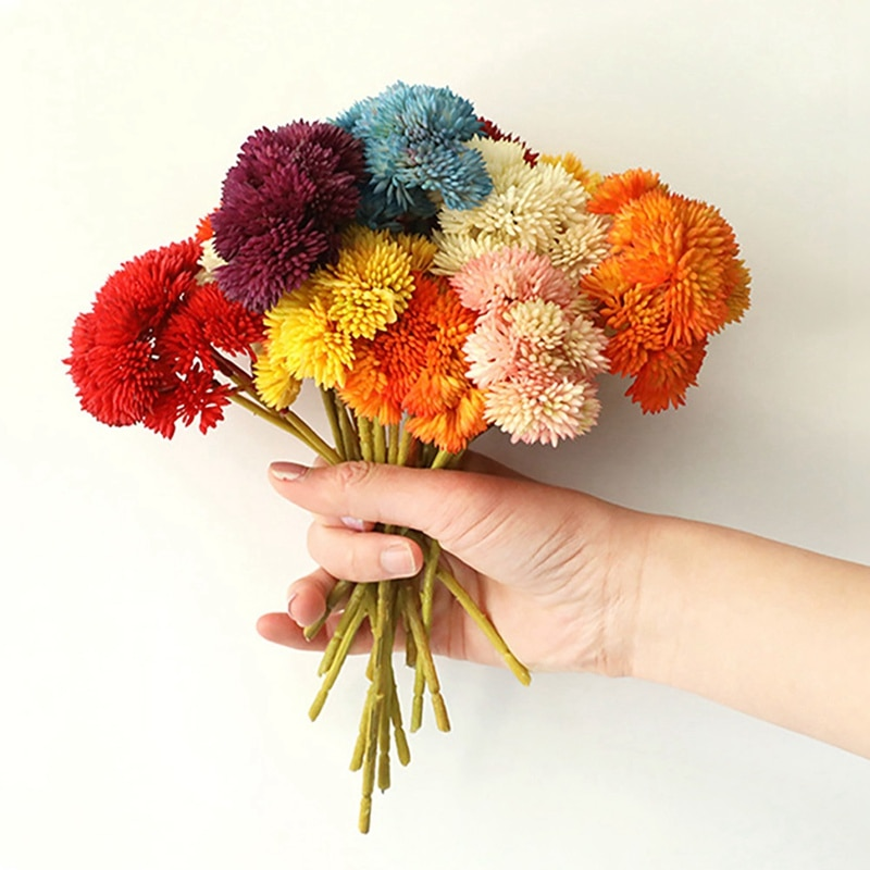 Bonita semilla de arroz de hortensia Artificial, flor de goma suave, suculenta planta de jardín casero, decoración de fiesta de boda