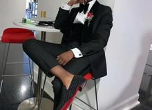Black suits men slim 3-piece bridegroom best man wedding dress suit business casual coat pants velvet vest Tuxedos Man Blazer