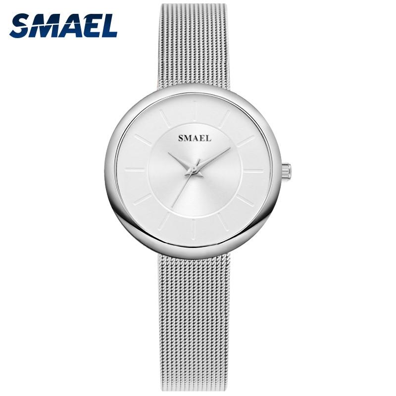 SMAEL Luxury Ladies Watch Women Life Waterproof Steel Strap Women Quartz Wrist Watches Top Brand Bracelet Clock Relogio Feminino