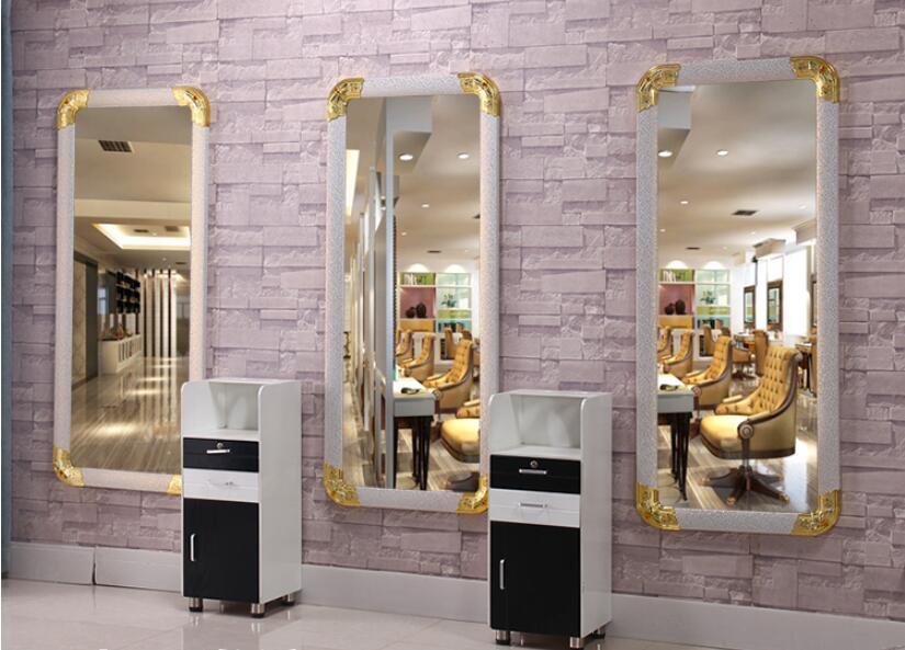 Парикмахерское зеркало таблицы Парикмахерское зеркало в магазине волос салонное зеркало напольное зеркало один кадр заднего вида для наст...