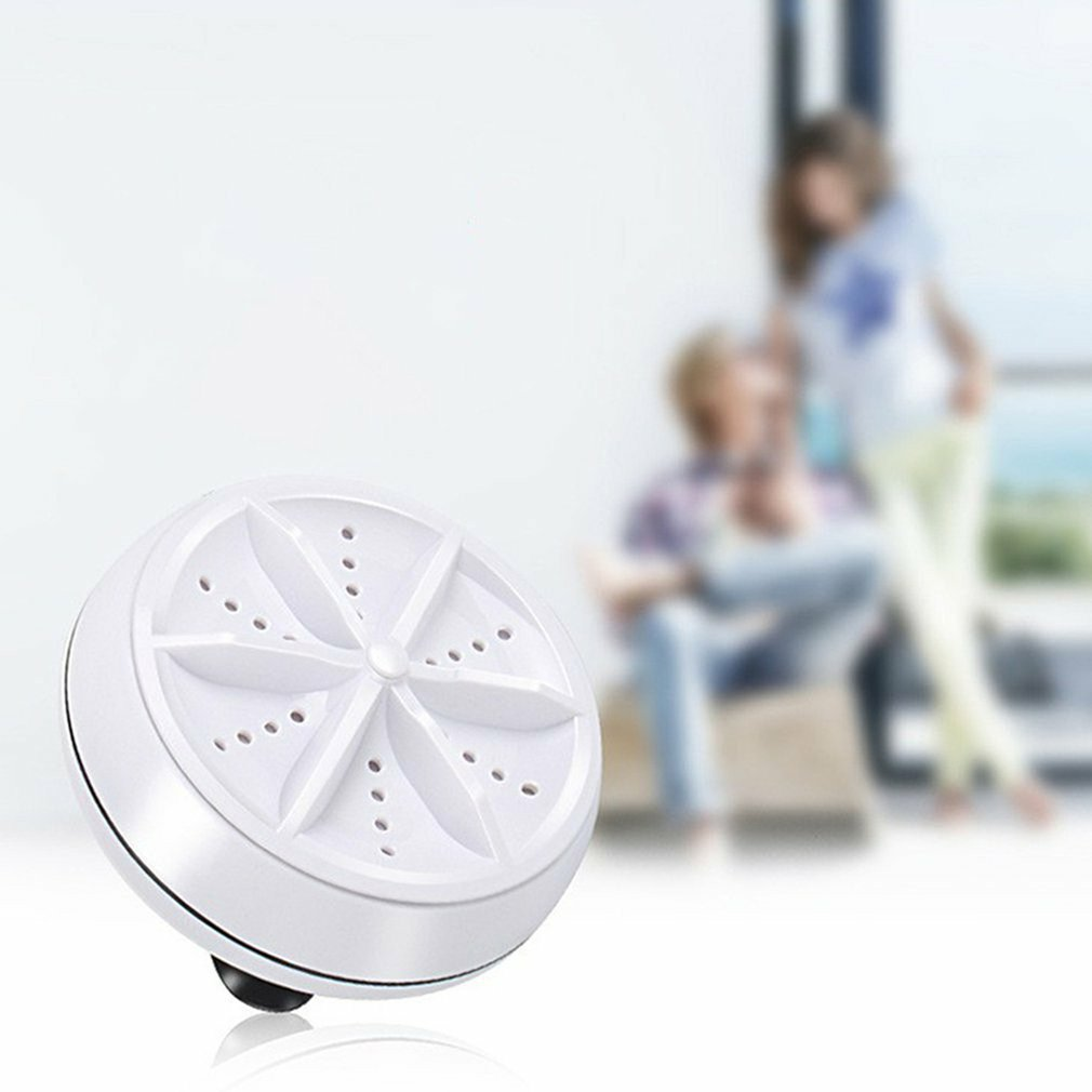 Ultrasonic Turbo Washing Machine Portable Travel Washer Air Bubble And Rotating Mini Washing Machine enlarge