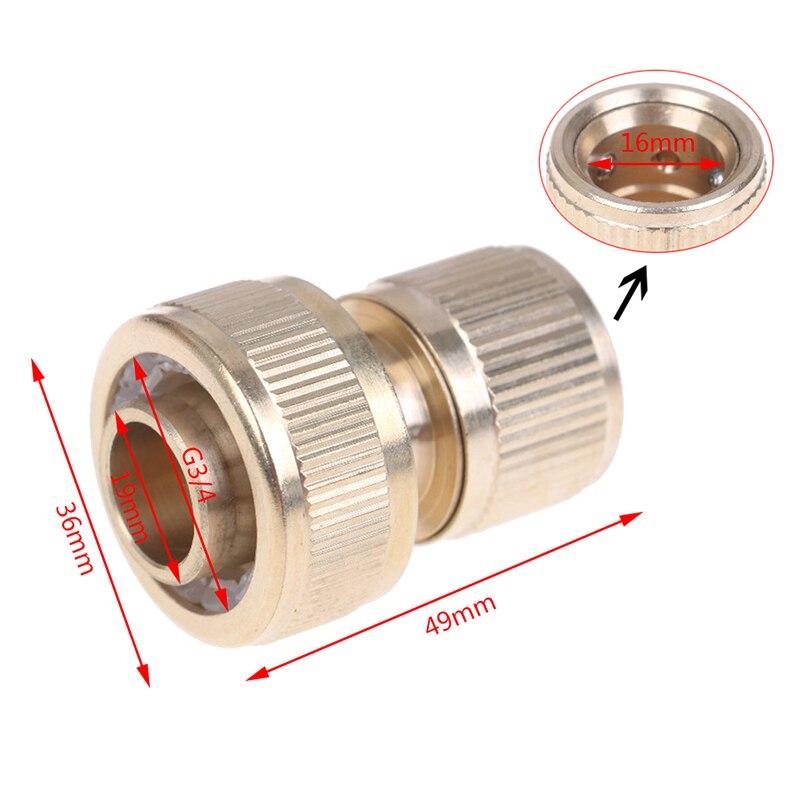 1 Uds. Conector rápido de manguera de latón 3/4 para jardín, irrigación de jardín, Conector de manguera de 25mm, adaptador de cobre puro