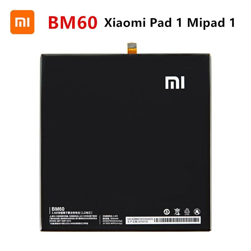 Оригинальный аккумулятор Xiao mi 100% BM60 6520 мАч для Xiaomi Pad 1 Mipad 1 A0101 BM60 высококачественные сменные батареи для планшета