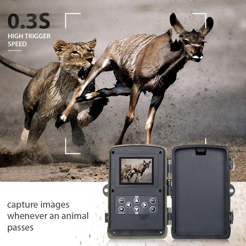 Waterproof Hunting Trail Camera With Night Vision Motion Activated 2.0 Inch Screen Wildlife Camera Hunting Trail Camera enlarge