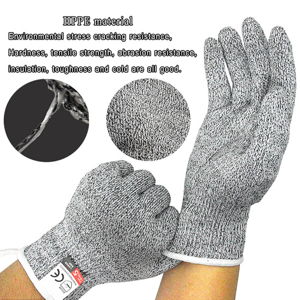 1 Pair HPPE Kitchen Gardening Hand Protective Gloves Butcher Meat Chopping Working Gloves Mittens