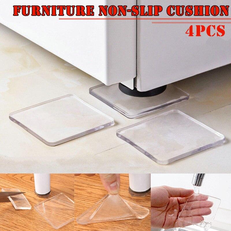 4 Pcs Washing Machine Refrigerator Chair Cushion Shock Proof Pad Furnitures Anti Slip Pad I88
