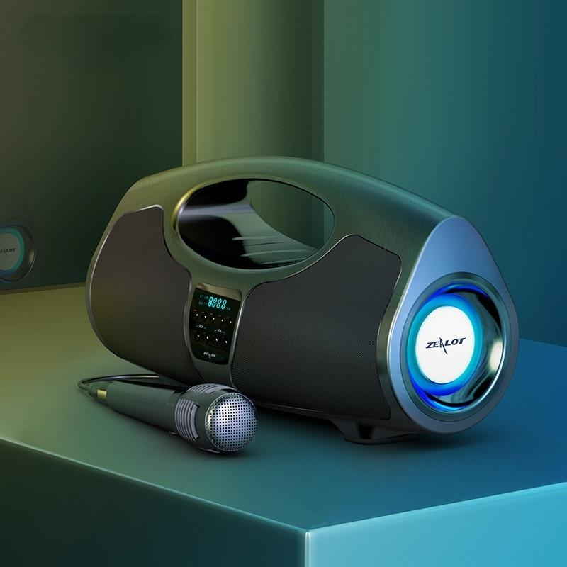 40W Portable Wireless Bluetooth Speaker TWS Subwoofer Battery Capacity Big Four-core Power Waterproof Bank Function