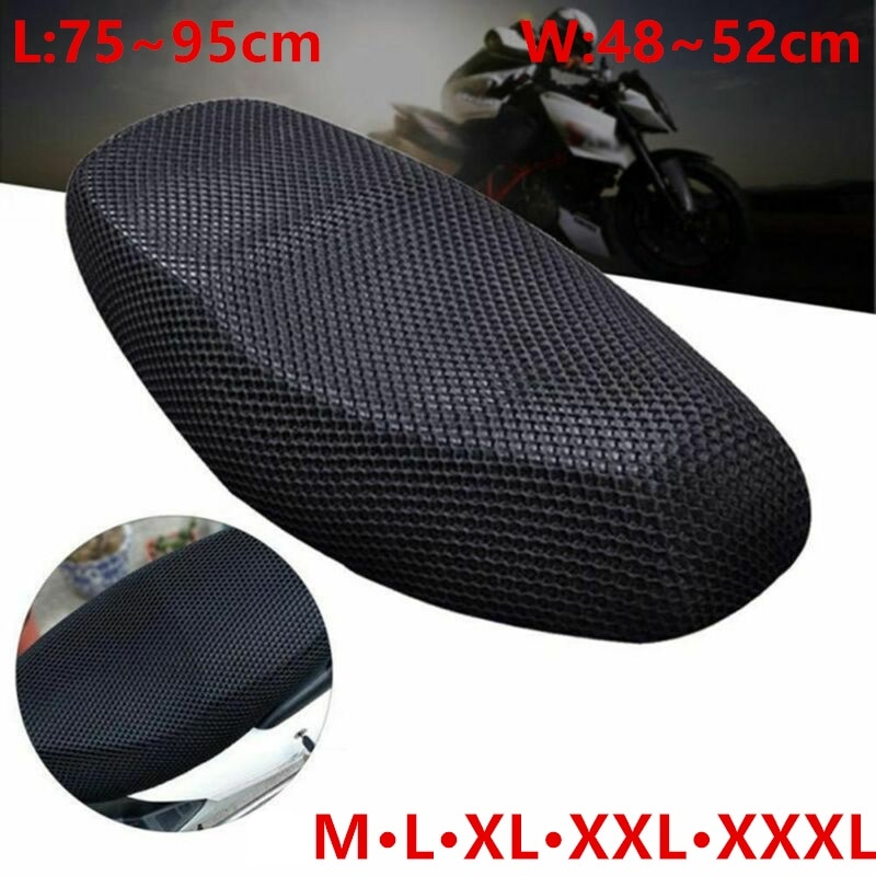 Breathable Summer Cool 3D Mesh Motorcycle Moped Motorbike Scooter Seat Covers Cushion Anti-Slip cover Grid protection pad