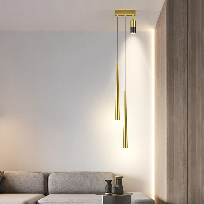 الحديثة قلادة LED أضواء الحد الأدنى مطعم مقهى بار غرفة المعيشة السرير قلادة مصباح حائط الخلفية مصباح تعليق