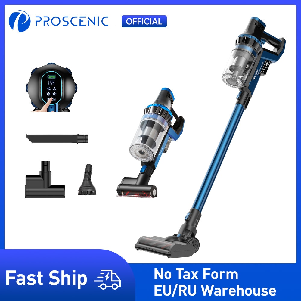 Proscenic P10 Cordless Vacuum Cleaner, 23000Pa Powerful Suction, LED Touch Screen, Wireless Handheld Vacuum for home