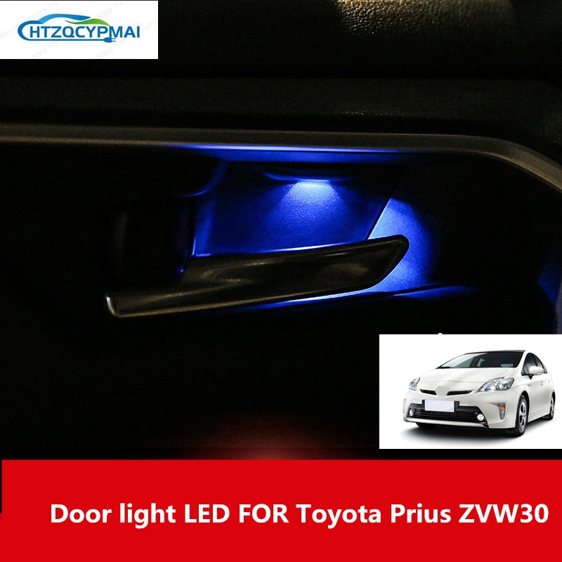 FOR Toyota Prius ZVW30 interior lights car atmosphere lights car lights modified door lights LED
