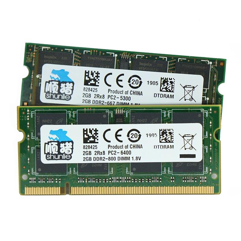Memória sodimm do portátil de ddr2 2gb 4gb ram 667mhz 800mhz 1.8v