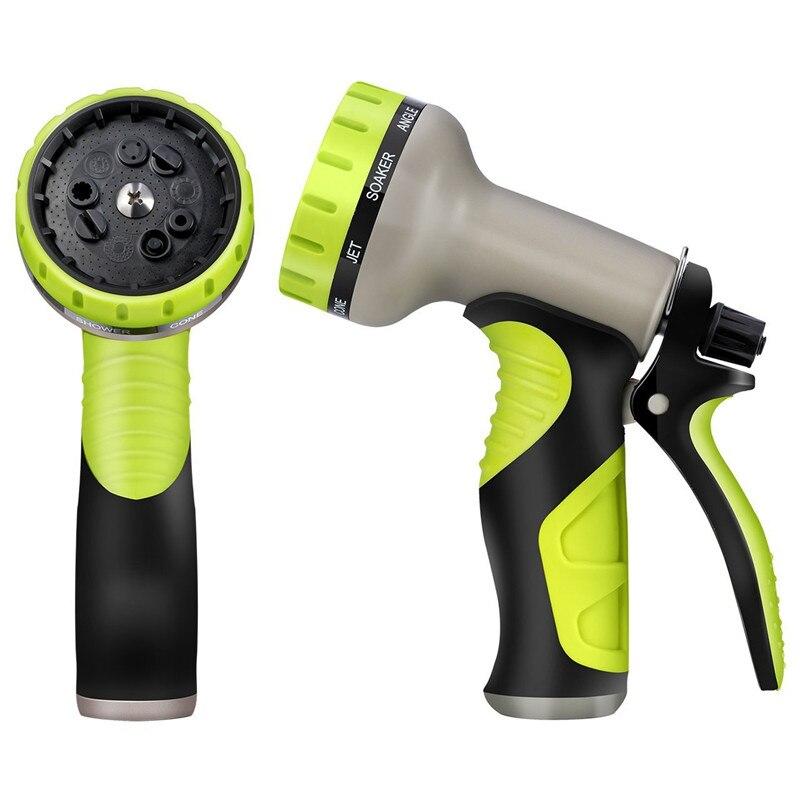 9 Mode Water Gun Garden Water Spray Hose Household Car Wash Nozzle Backyard Multi-Function Tube Nozzle Pipe Sprinkler Tool