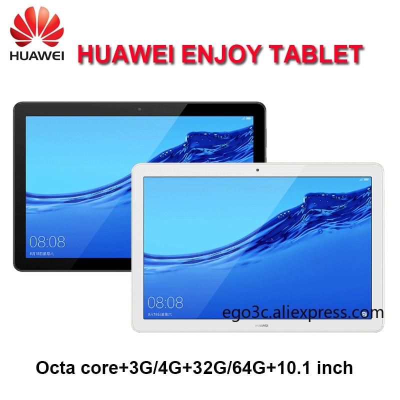 Huawei desfrutar da tabuleta 10.1 polegada kirin 659 octa núcleo 3g/4g ram 32g/64g rom wifi/lte 5100mah 1920x1200 android 8.0