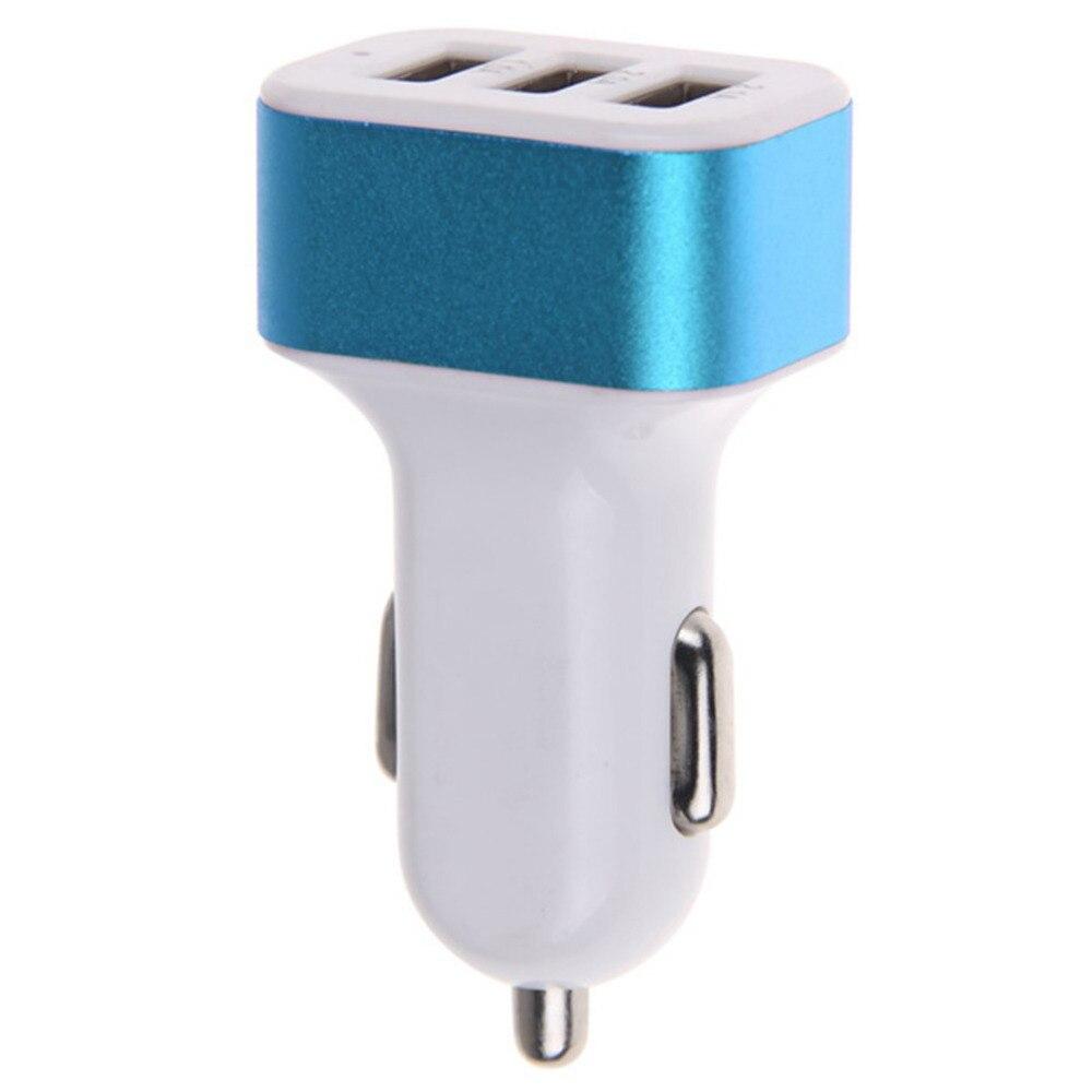 500 قطعة/الوحدة العالمي الملونة دائم العالمي 4.1A 12 فولت 3 USB ميناء شاحن سيارة محول آيفون سامسونج الهاتف المحمول الذكية