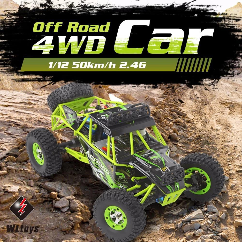 WLtoys 12428/12427 RC Car 4WD 1/12 2.4G 50KM/H High Speed Monster Vehicle Remote Control Car RC Buggy Off-Road Car enlarge