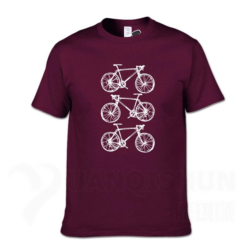 Três bicicletas rabiscos desenho t-shirts 16 cores algodão dos homens t camisas tamanho grande 3xl camisetas masculinas engraçadas hip hop