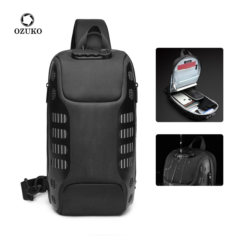 OZUKO Multifunction Crossbody Bag for Men Anti-theft Shoulder Messenger Bags Male Waterproof Short Trip Chest Bag Pack New new multifunction crossbody bag for men anti theft shoulder messenger bags male waterproof short trip chest bag male bag