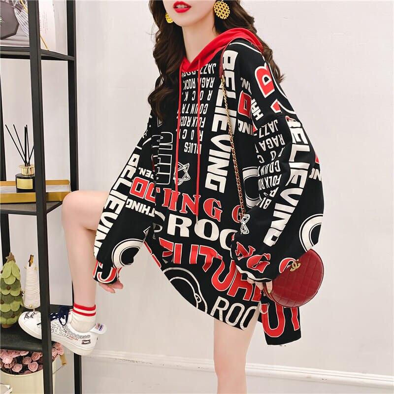 Bnwige carta impressão hoodies moletom com capuz harajuku hip hop hoodies moletom feminino japonês streetwear hoodie