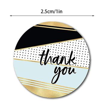 500 PCS Thank You Stickers Per Roll 1 inches Modern Thank You Stickers 8 Different Designs 4