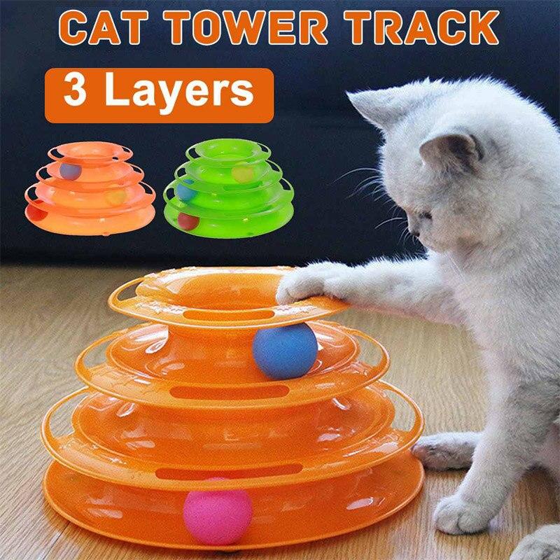 Товары для домашних животных, башня, треки, технические товары для обучения домашних животных, интеллектуальная игрушка для кошек, развлече...