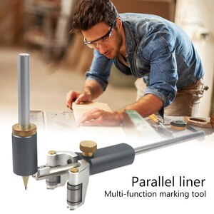 Dual-purpose  Scriber Line Drawing Outline Gauge Multi-function Marking Woodworking Scribe Linear Measuring Tool Parts
