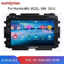 "8 ""Android 9.0 samochodowa multimedialna nawigacja gps dla Honda HRV VEZEL XRV z radiem dsp bluetooh 4.2 octa core 4g ram 64g rom"