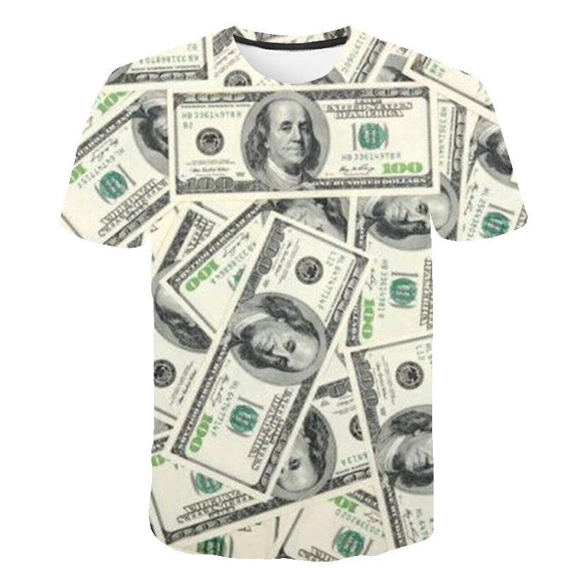 Camiseta gym Dollar, camiseta de dinero para hombres, camiseta gótica 3d divertida, camiseta de hip-hop, camiseta Guay, ropa para hombres, nueva camisa de verano 2019
