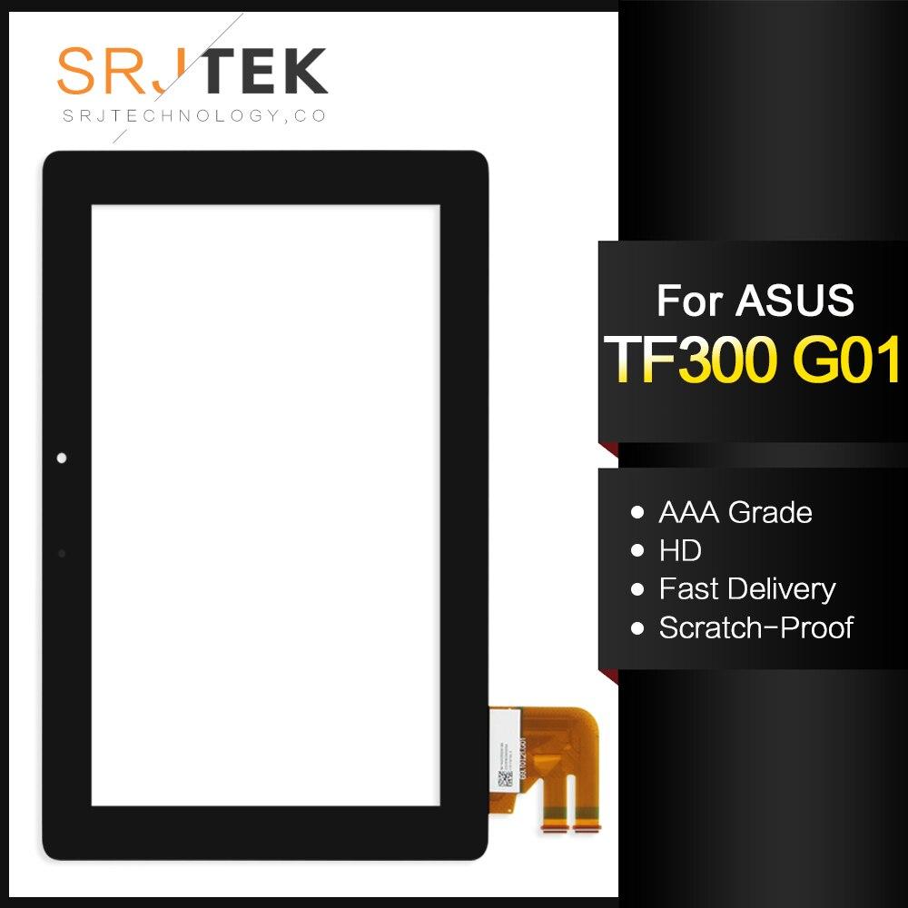 Srjtek Für Asus Transformer Pad TF300T TF300 tf300tg G01 Version Schwarz Digitizer Touchscreen Glas 69.10I21. G01