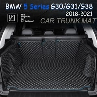 the trunk cargo leather liner car trunk mat cargo compartment floor carpet mud kick for bmw 5 series 2018 2021 g30 g31 g38