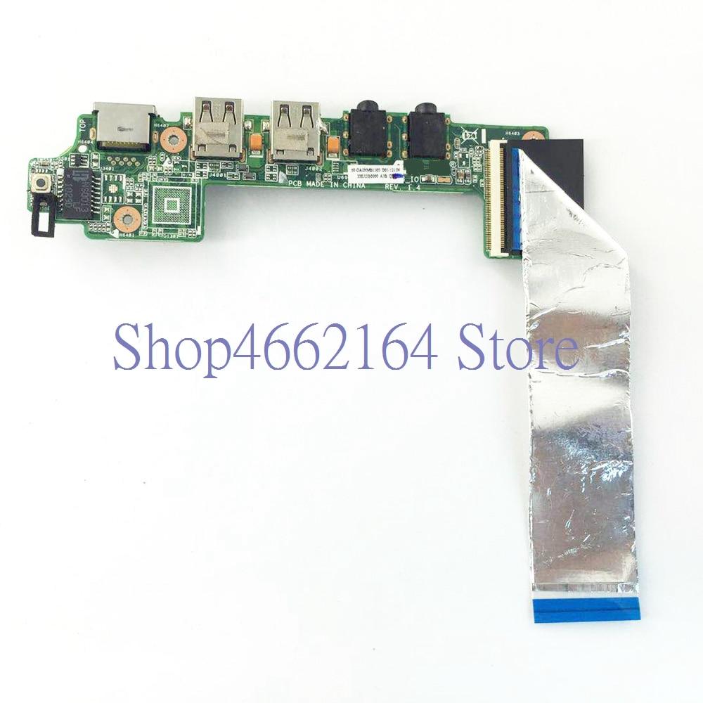 1215N IO Board Für ASUS 1215 1215P 1215N 1215N/VX6 Netzwerk karte Audio USB 2,0 IO Board Mit kabel USB BOARD
