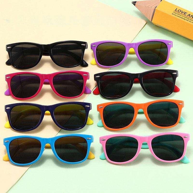 Hot Sale Personalized Childrens Sunglasses Silicone Round Polarized Fashion Boys and Girls Sun Glasses