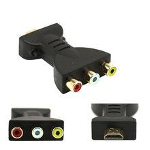 HDMI portátil a 3 RCA Video Audio AV adaptador componente Convertidor para HDTV DVD conversor para proyector