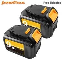 powtree for dewalt 18v20v 9000mah battery power tools batteries replacement dcb181 dcb182 dcb200 dcd780 dcd785 dcd795