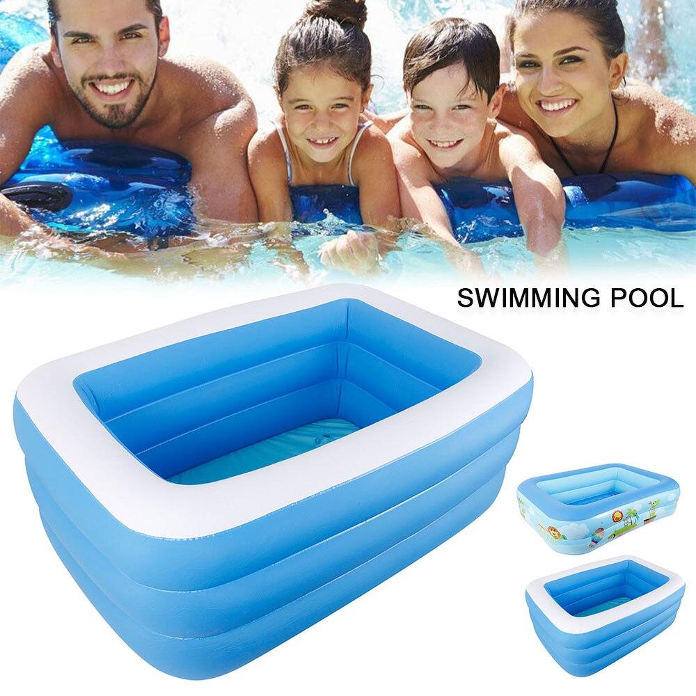 Piscina hinchable gruesa de verano, piscina de agua interior al aire libre, gran familia, niños, bañera de juegos para adultos