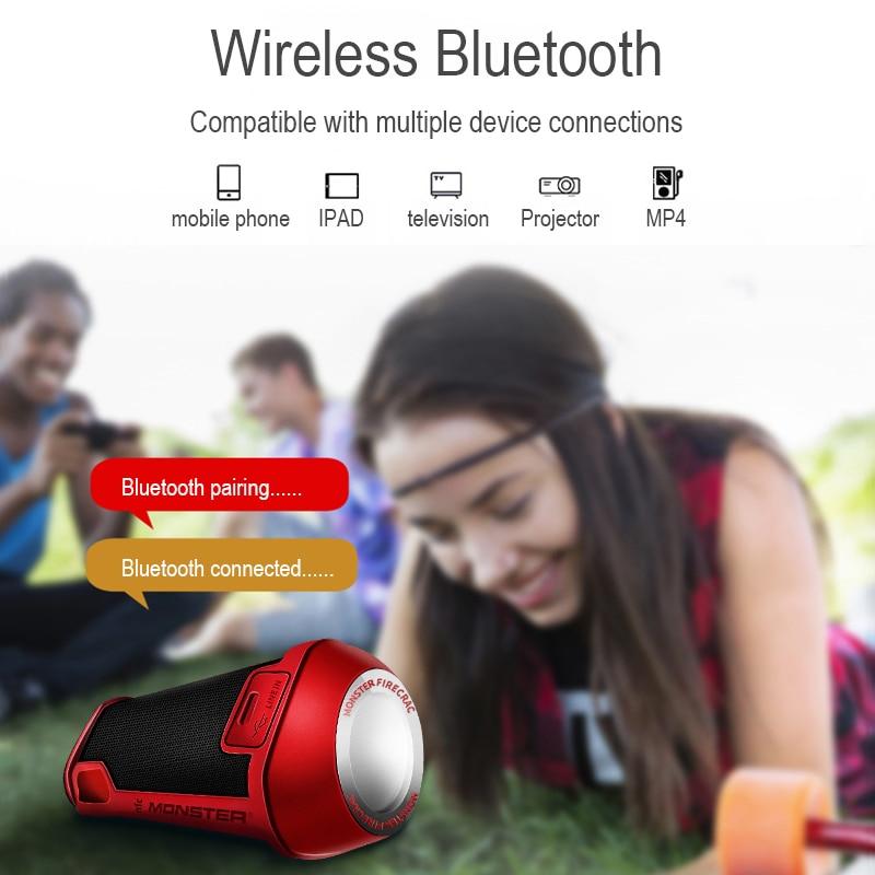 US Captain Monster Speaker Firecracker Portable Bluetooth Wireless Speaker for Outdoor, Camping Illumination Light Waterproof enlarge