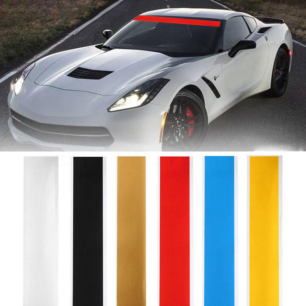 """Color opcional 152CM 6 """"x 60"""" vinilo calcomanía para parabrisas de raya de automovilismo etiqueta engomada de la ventana Visor Decoración"""
