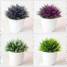 نبات اصطناعي بونساي نباتات بوعاء نباتات وهمية مع وعاء حرفة فنية صغيرة للمنزل/الحديقة/الغرفة/ديكورات الفنادق Bromeliad 1 قطعة